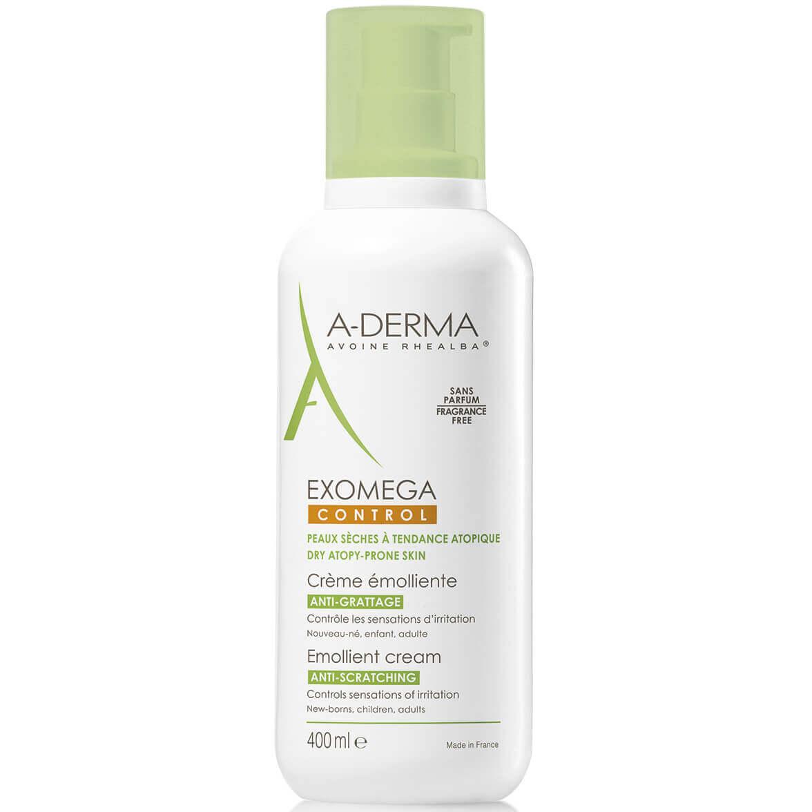 A-Derma Exomega Control Creme Emolliente Μαλακτική Καταπραϋντική Κρέμα για το Αίσθημα του Κνησμού σε Ξηρό Δέρμα 400ml Promo -15%