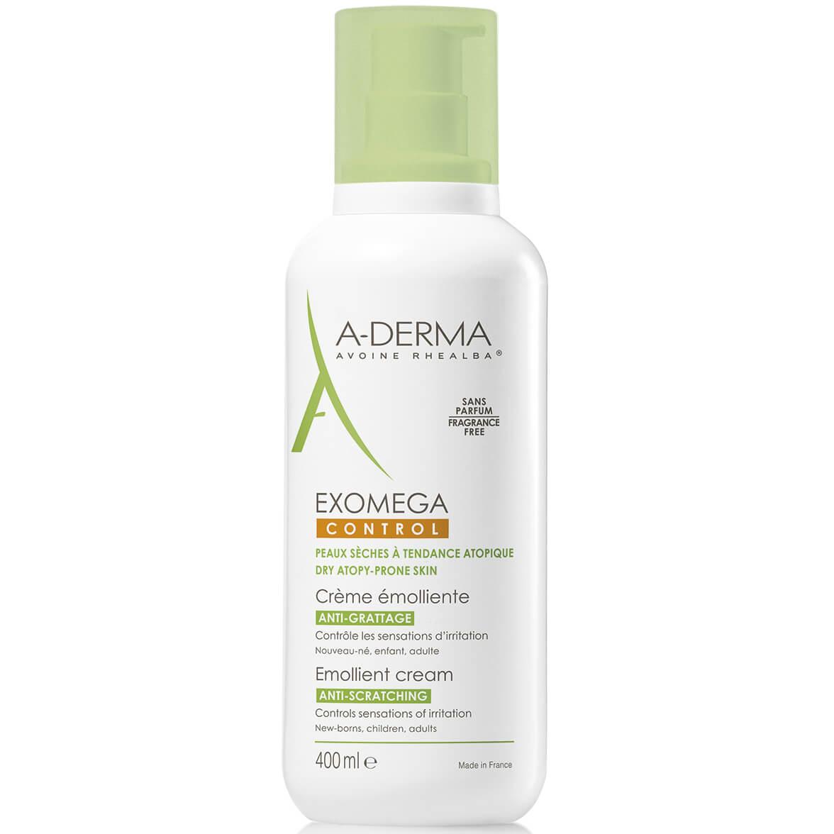 A-Derma Exomega Control Creme Emolliente Μαλακτική Καταπραϋντική Κρέμα για το Αίσθημα του Κνησμού, στο Ξηρό Δέρμα 400ml