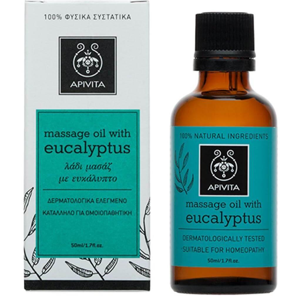 ApivitaEucalyptus Massage Oil Λάδι Μασάζ με Ευκάλυπτο 50ml