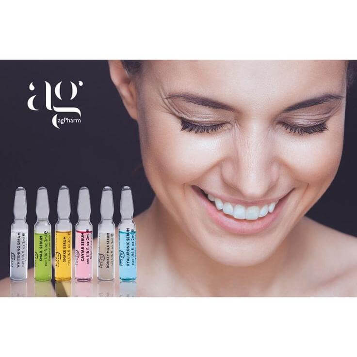 Agpharm Αμπούλες Ομορφιάς Περιποίηση Προσώπου Serum Αντιγήρανσης 2ml – Hyaluronic Serum