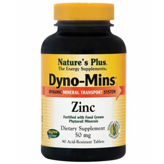 Natures Plus Dyno-Mins Zinc 50mg Συμπλήρωμα Διατροφής Ψευδαργύρου90Tablets