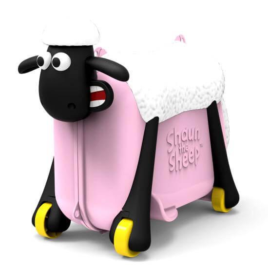 Shaun the Sheep Σον το Πρόβατο Παιδική Βαλίτσα Ταξιδιού, Βάφτισης, Περπατούρα, Παιχνιδόκουτο σε ΡοζΧρώμα