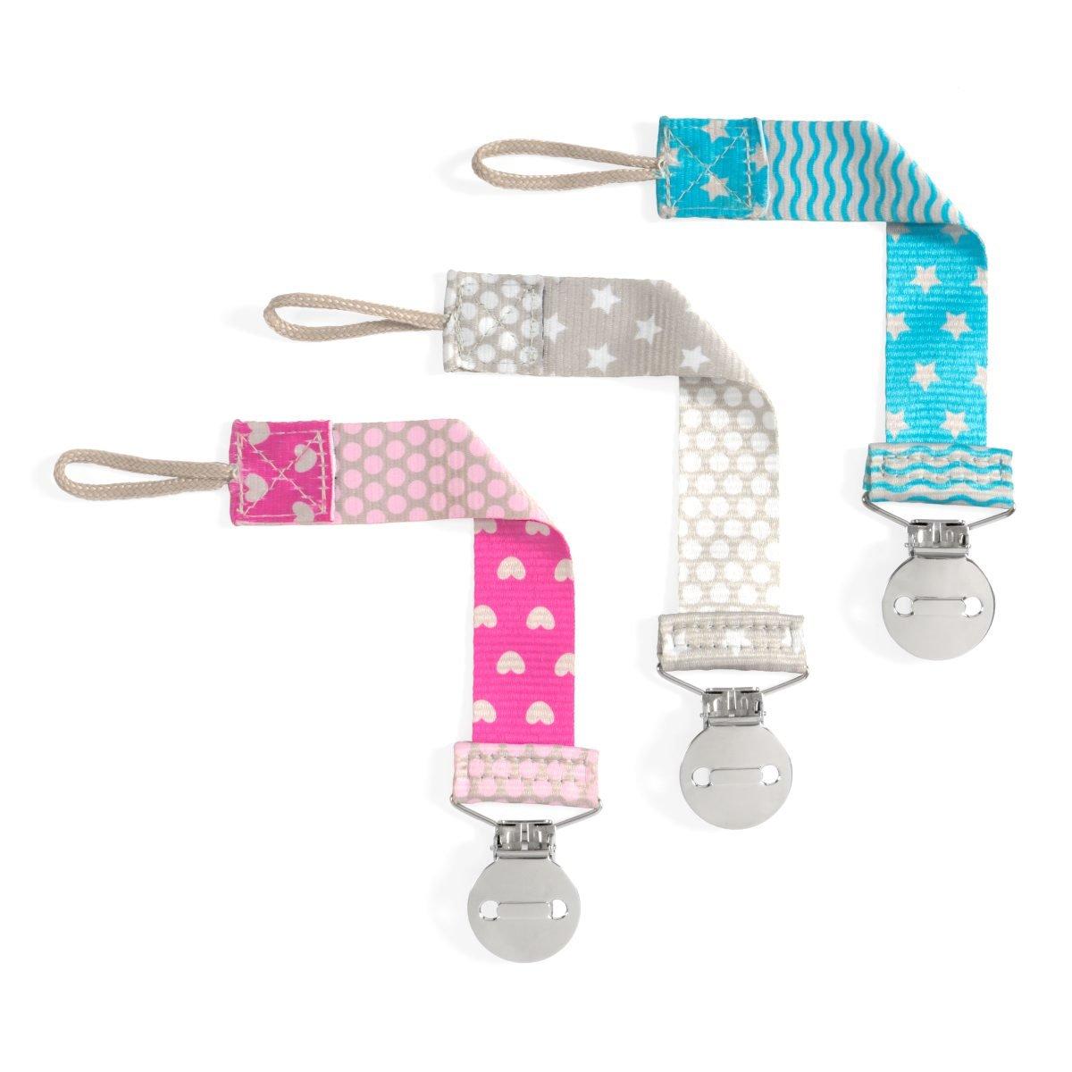 Chicco Κλιπ Πιπίλας Fashion Clip για Πιπίλες με ή Χωρίς Κρίκο 0+ – ροζ