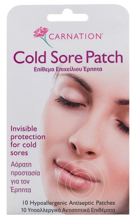 Vican Carnation Cold Sore Patch Καταπολεμά τον Επιχείλιο Έρπητα 10τμχ