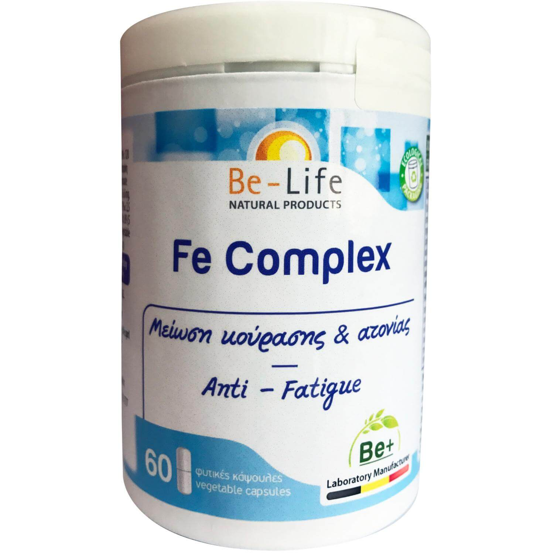 Be-Life Fe Complex Συμπλήρωμα Διατροφής για Μείωση της Κούρασης & της Ατονίας 60caps