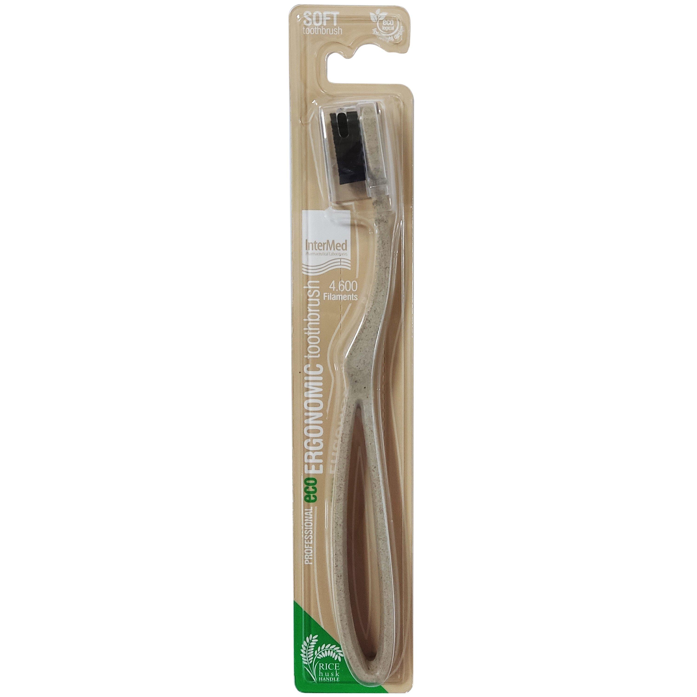 InterMed Professional Eco Ergonomic Toothbrush Soft Επαγγελματική Εργονομική Οδοντόβουρτσα Μαλακή 1 Τεμάχιο