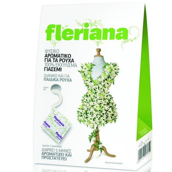 Power Health Fleriana Φυσικό Αρωματικό για τα Ρούχα με 100% Εκχύλισμα Γιασεμιού Ιδανικό και για Παιδικά Ρούχα 3τεμάχια
