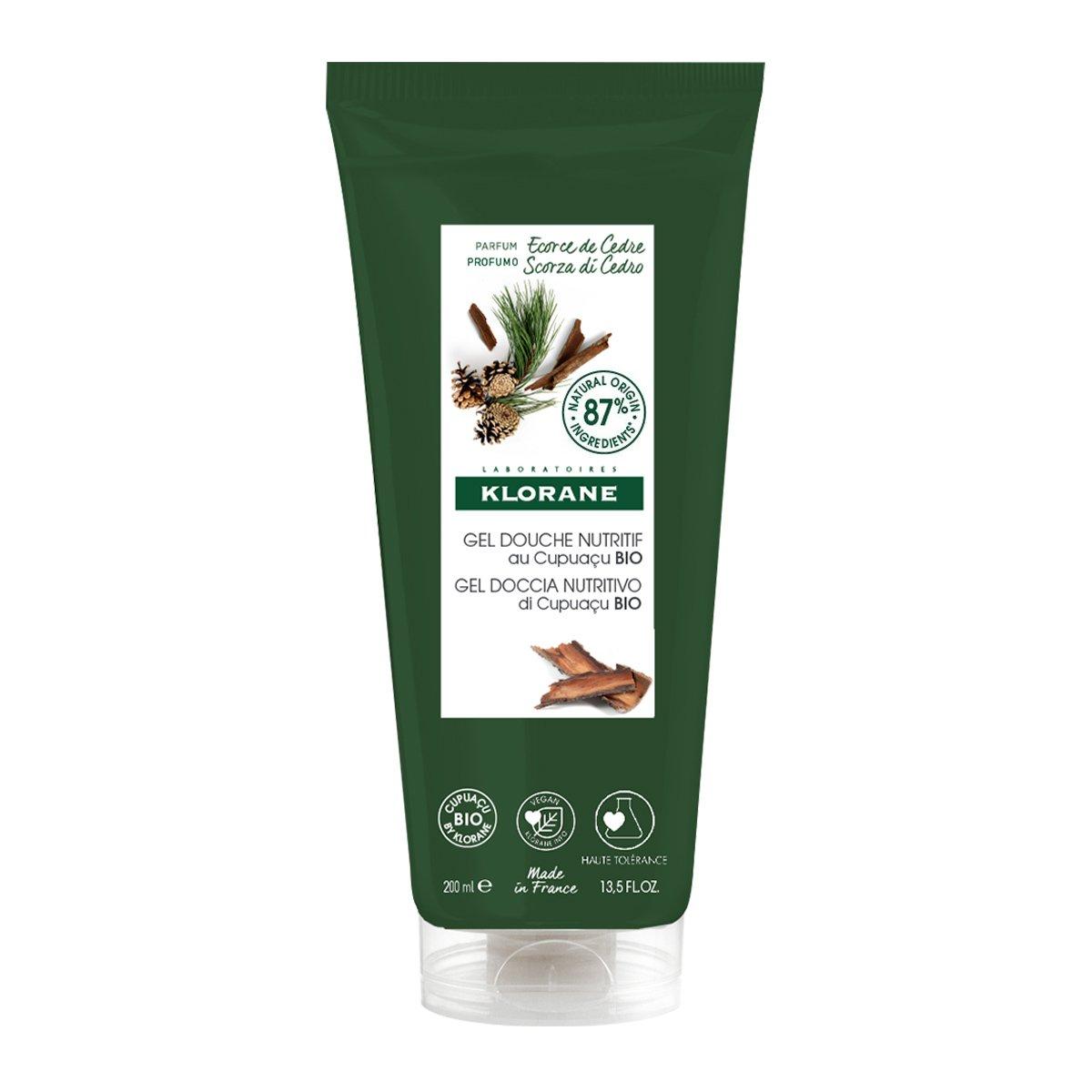 Klorane Cedar Nourishing Shower Gel Θρεπτικό Gel Αφρόλουτρο με Βιολογικό Βούτυρο Cupuacu & Άρωμα Φλοιού Κέδρου 200ml