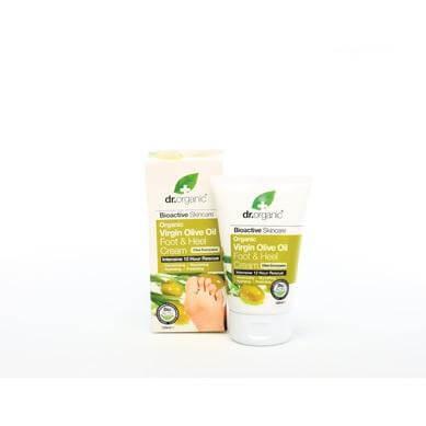 Dr Organic Organic Virgin Olive Oil Foot & Heel Cream Κρέμα για Πόδια και Πέλματα με Βιολογικό Παρθένο Λάδι Ελιάς 125ml