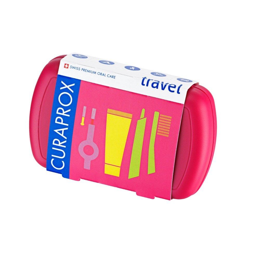 Curaprox Travel Set Fuchsia Σετ Ταξιδίου Στοματικής Φροντίδας σε Φούξια Χρώμα 1 Τεμάχιο