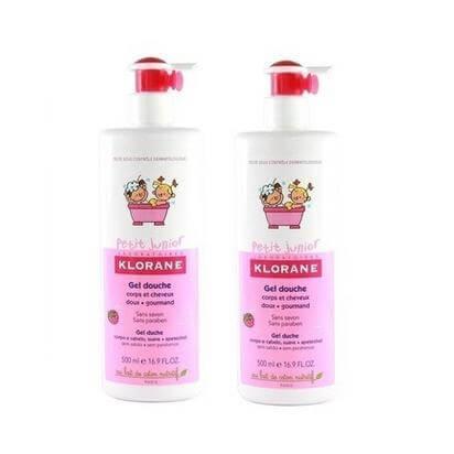 Klorane Petit Junior Shower Gel Sweet Raspberry Fragrance Απαλό Παιδικό Ζελ-Ντου μητέρα παιδί   περιποίηση για το μωρό   σαμπουάν για το μωρό