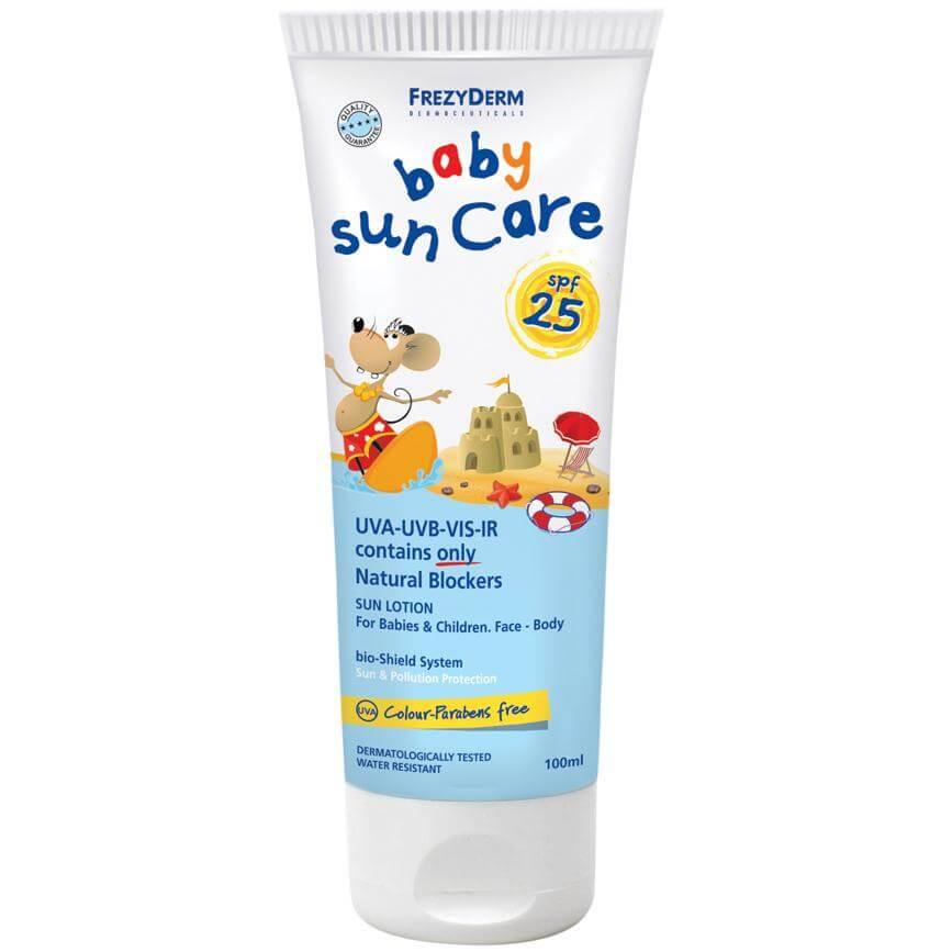 Frezyderm Baby Sun Care Spf25 Αντηλιακό Γαλάκτωμα Προσώπου & Σώματος, Κατάλληλο  μητέρα παιδί   περιποίηση για το παιδί   παιδική αντηλιακή προστασία