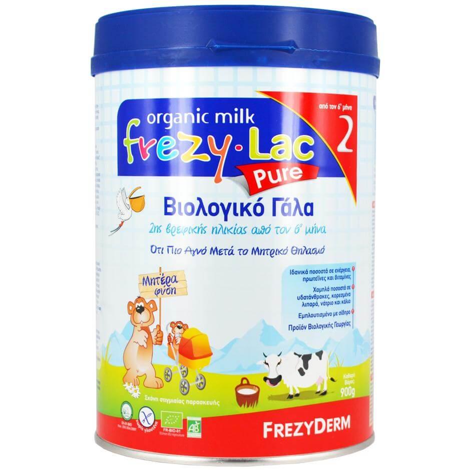 Frezyderm Frezylac Pure 2 Αγνό Βιολογικό Γάλα Κατάλληλο για την Διατροφή του Βρέφους Από τον 6ο Μήνα 900gr