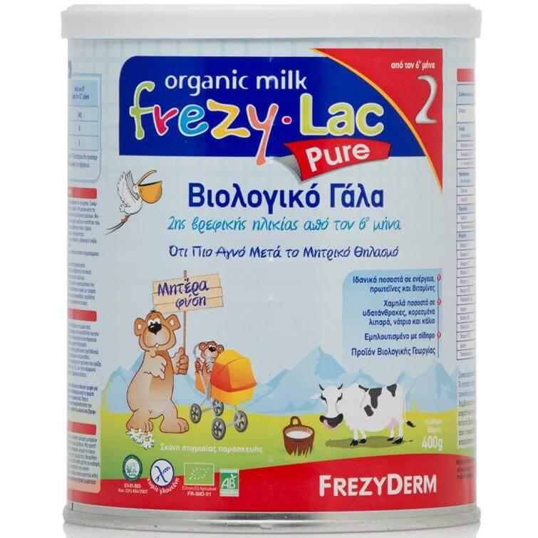 Frezyderm Frezylac Pure 2 Βιολογικό Γάλα 2ης Βρεφικής Ηλικίας 400gr