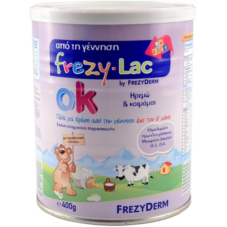 Frezyderm Frezylac OK Γάλα για Βρέφη Από την Γέννηση Ηρεμώ & Κοιμάμαι 400gr