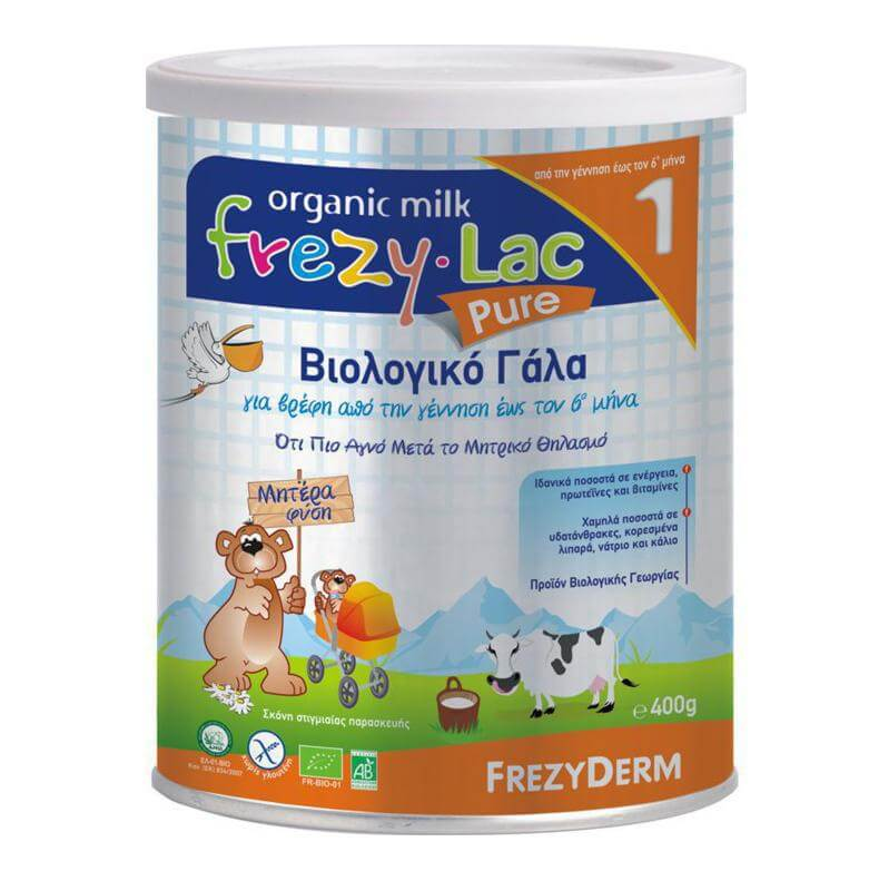 Frezyderm Frezylac 1 Pure Βιολογικό Γάλα 0-6 Μηνών 400gr
