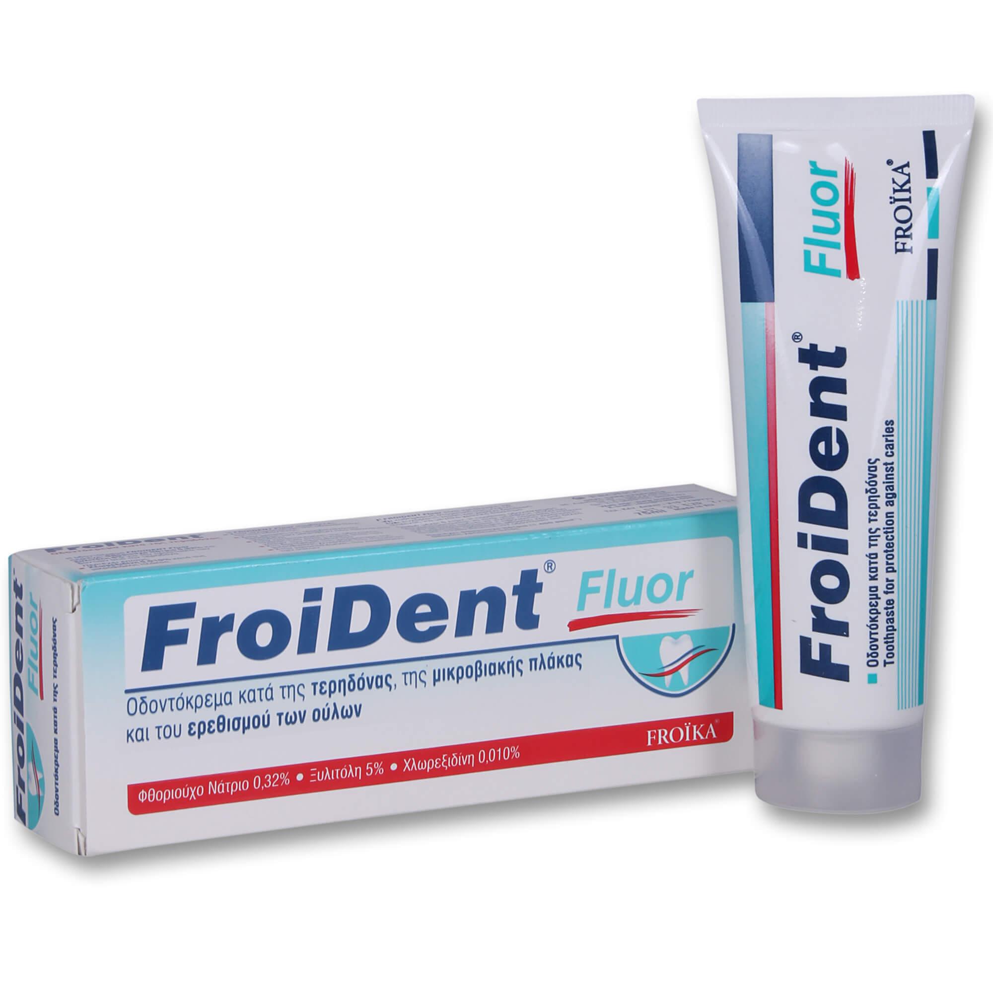 Froika Froident Fluor Toothpaste Οδοντόκρεμα Κατά της Τερηδόνας, της Μικροβιακής Πλάκας & του Ερεθισμού των Ούλων 75ml