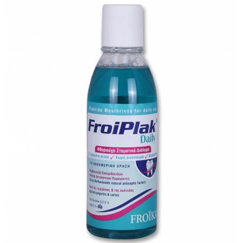 Froika Froiplak Daily Mouthwash Φθοριούχο Στοματικό Διάλυμα για την Καθημερινή Στοματική Υγιεινή Δοντιών και Ούλων 500ml