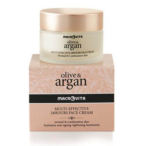 Macrovita Multi Effective Olive & Argan Κρέμα Προσώπου 24ώρου 50ml