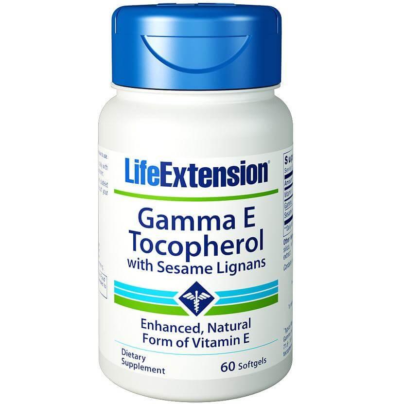 Life Extension Gamma Ε Tocopherol With Sesame Lignans Συμπλήρωμα Διατροφής Βιταμίνης Ε 60soft.gels