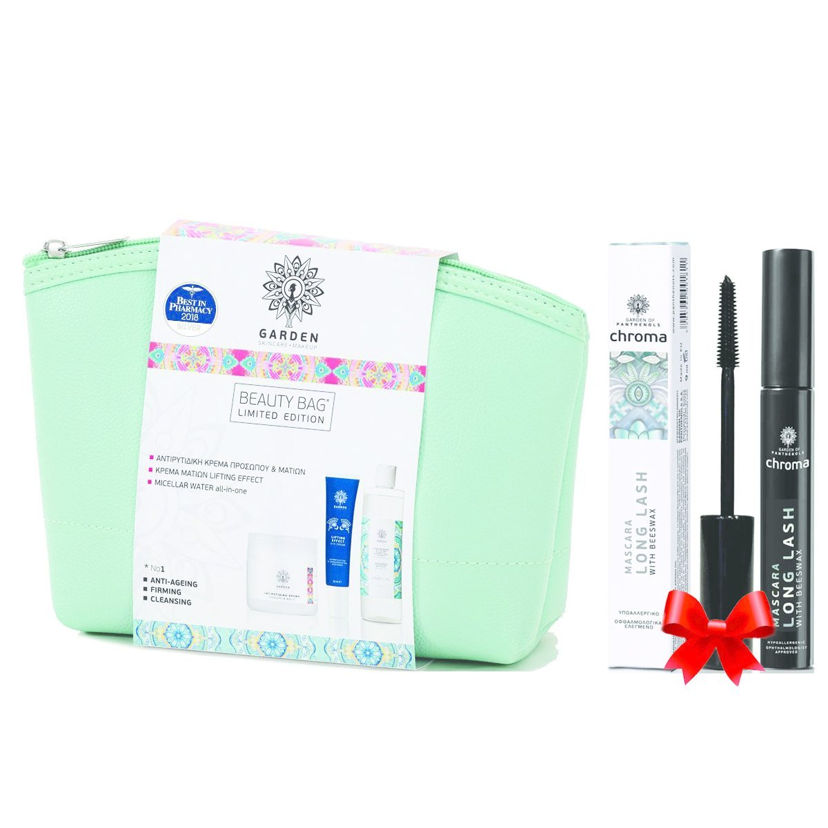 Garden of Panthenols Πακέτο Προσφοράς Beauty Bag Set No1 Anti-Ageing, Firming, Cleansing & Δώρο Long Lash Mascara 9ml
