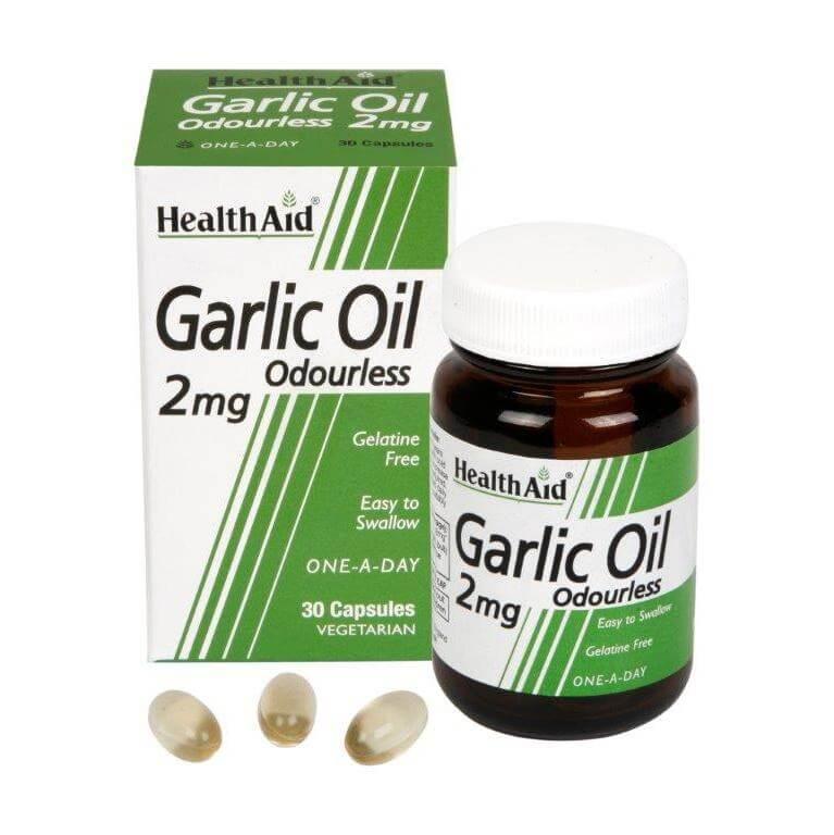 Health Aid Garlic Oil 2Mg Odourless Ρύθμιση Της Υψηλής Πίεσης 30tabs