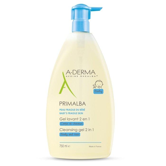 A-Derma Primalba Gel Lavant 2in1 Τζελ Καθαρισμού για το Δέρμα & τα Μαλλιά του Μωρού -15% 750ml