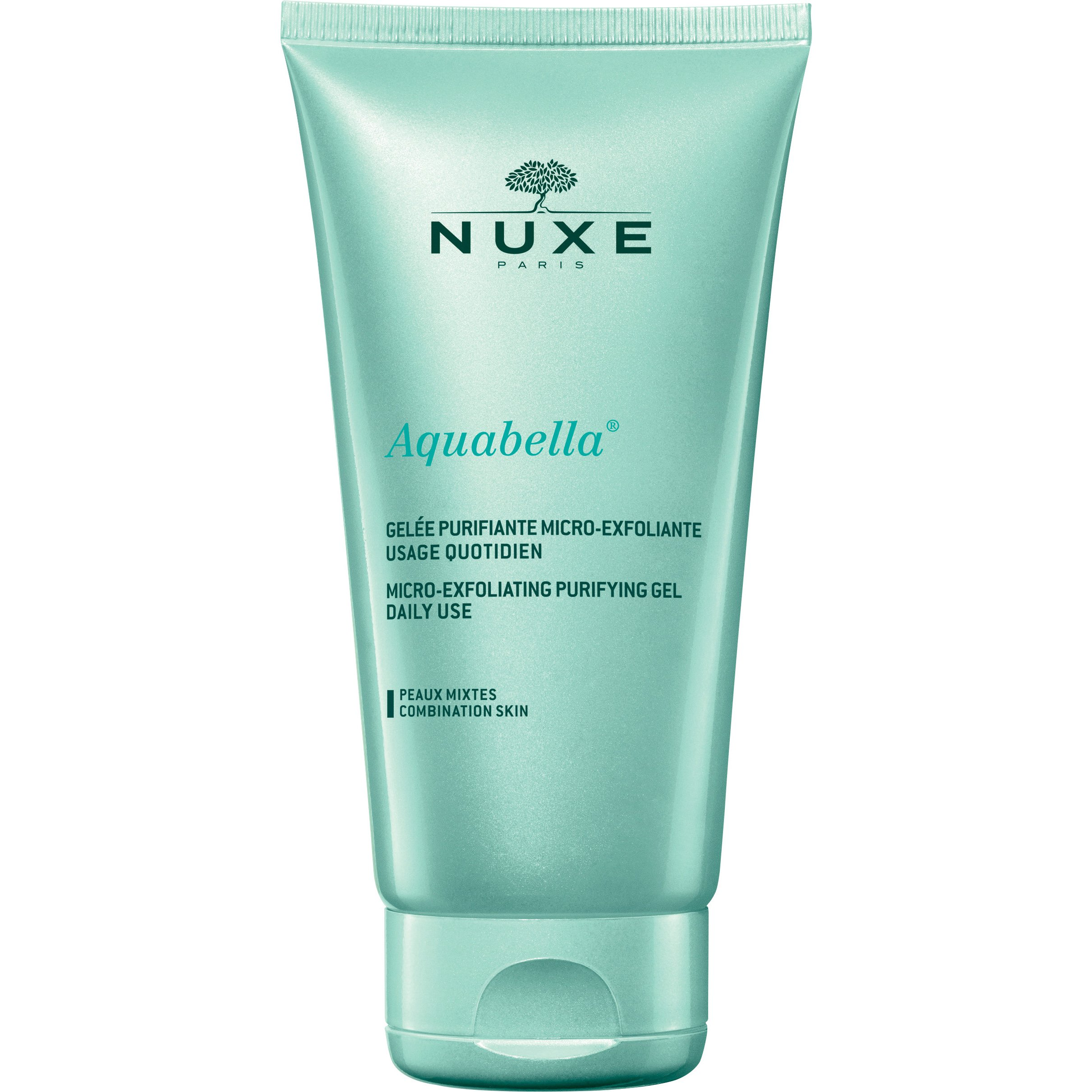 Nuxe Aquabella Micro-Exfoliating Purifying Gel Καθημερινός Καθαρισμός & Απολέπιση Προσώπου, Κανονικές – Μικτές Επιδερμίδες 150ml