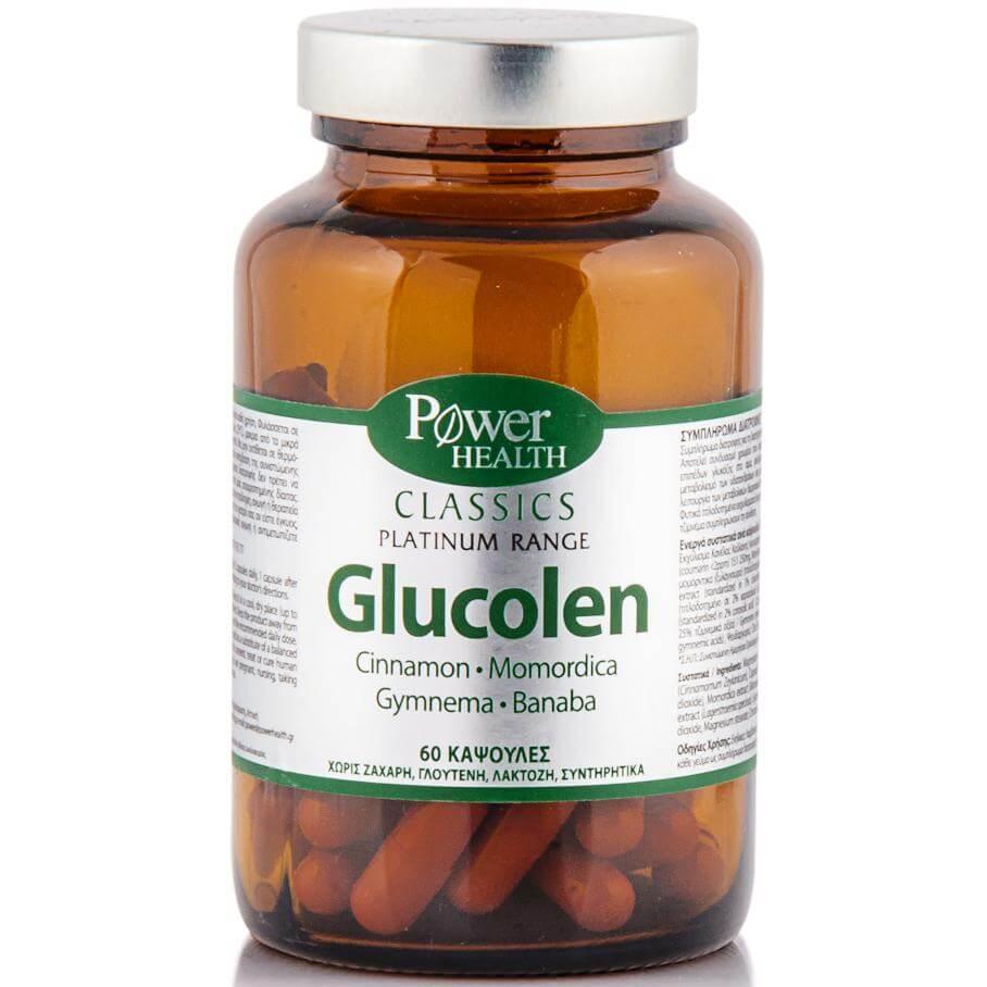 Power Health Classics Glucolen Συμπλήρωμα Διατροφής Ιδανικό για Στοχευμένη Δράση Διαχείρισης των Επιπέδων Σακχάρου 60caps