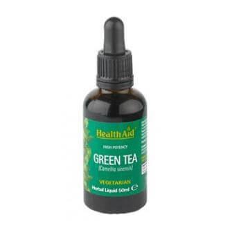 Health Aid Green Tea Liquid Alcohol Free Ισχυρό Αντιοξειδωτικό 50ml