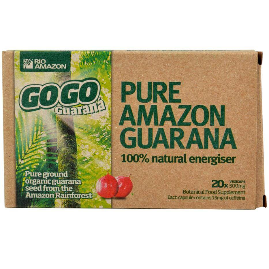 Gogo Guarana Vegicaps 500mg 100% Φυσικό Τονωτικό σε Κάψουλες για Σώμα & Μυαλό 20veg.caps