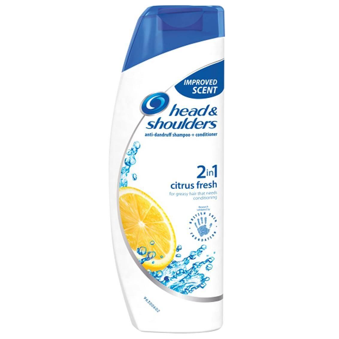 Head & Shoulders 2 σε 1 Αντιπιτυριδικό Σαμπουάν & Conditioner Citrus Fresh με Λεμόνι για Αίσθηση Φρεσκάδας 360ml