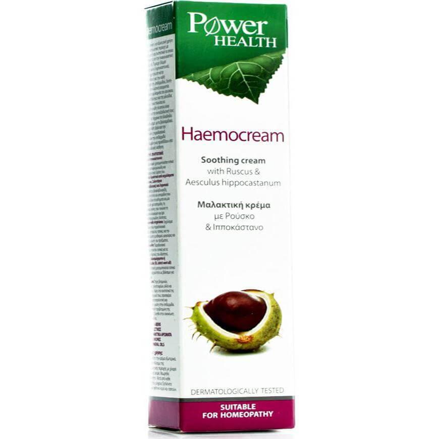 Power Health HaemoCream Μαλακτική Κρέμα με Ρούσκο και Ιπποκάστανο για Αιμοροϊδες 50ml