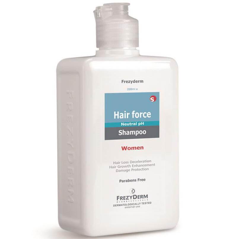 Frezyderm Hair Force Shampoo Women Τριχοτονωτικό Σαμπουάν Ειδική Σύνθεση για Γυν υγιεινή   μαλλιά   θεραπείες μαλλιών