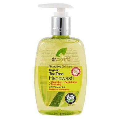 Dr Organic Organic Tea Tree Hand Wash Κρεμοσάπουνο με Βιολογικό Τεϊόδεντρο 250ml