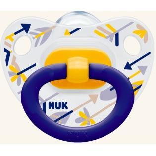 NUK Classic Happy Days σιλικόνης με κρίκο, μεγέθη 1-3 – Μέγεθος 3 (18-36 μηνών)
