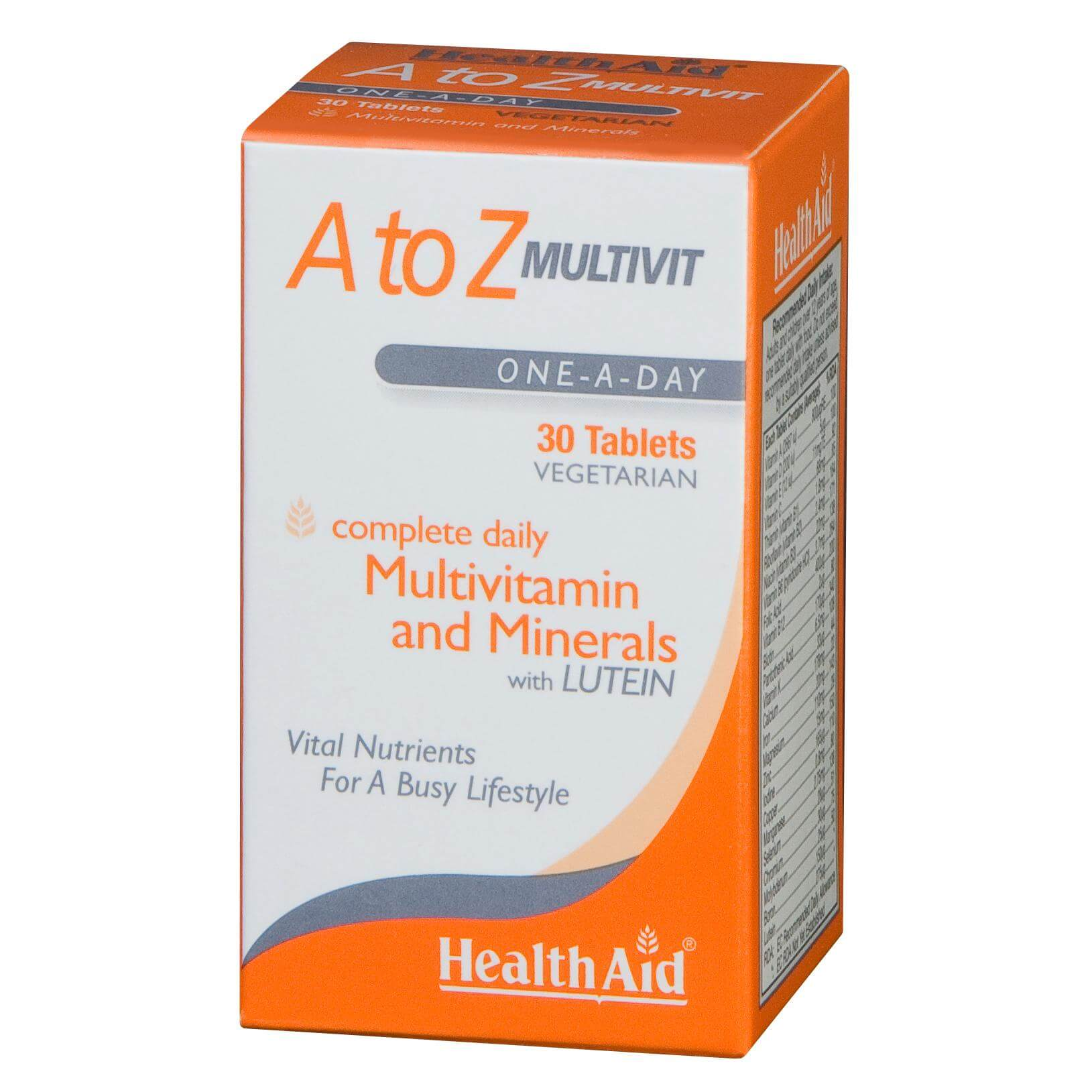 Health Aid A To Z Multivitamin Πολυβιταμίνη 30Tabs
