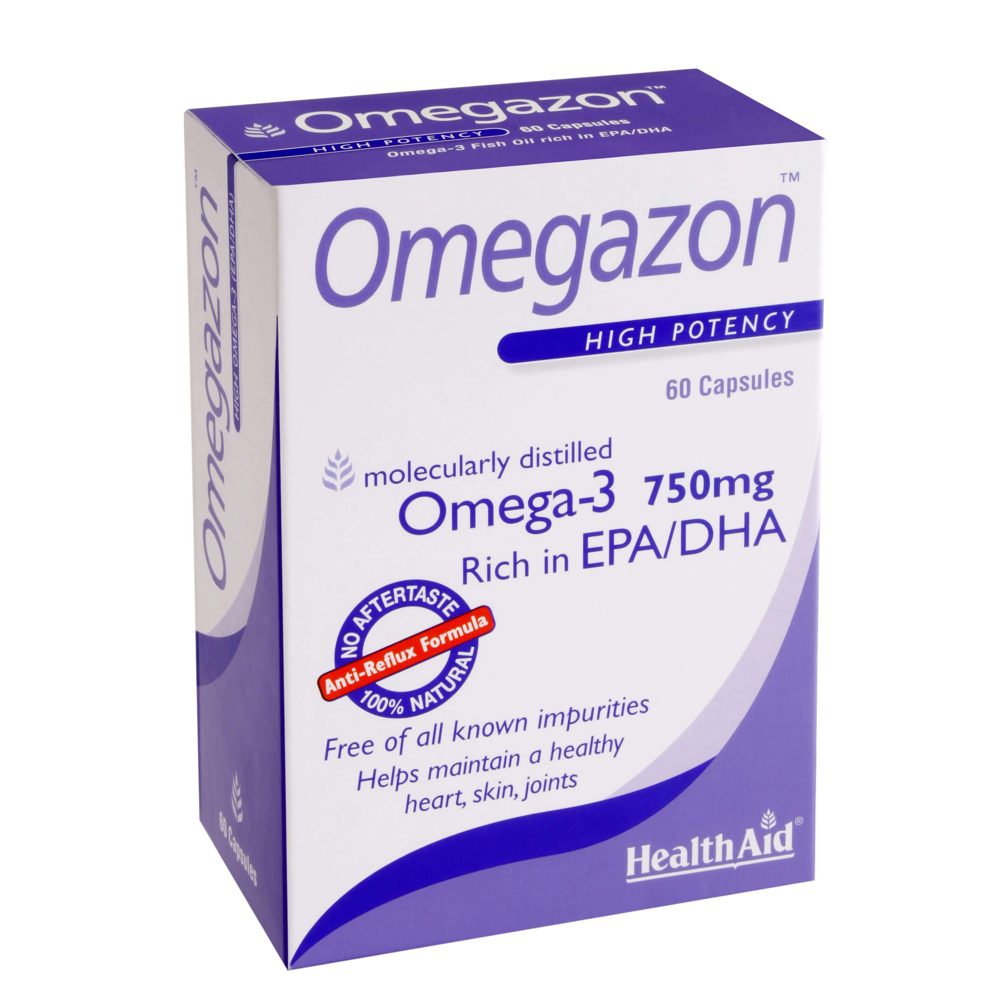 Health Aid Omegazon 750Mg -Blister Νορβηγικά Ιχθυέλαια Διπλής Μοριακής Απόσταξης 60Caps