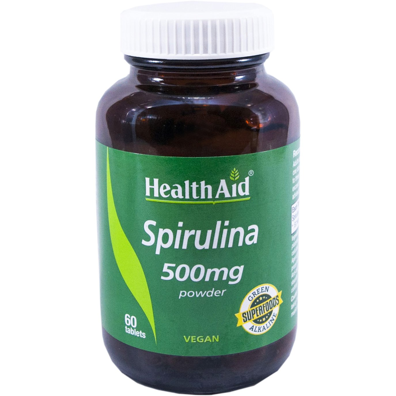 Health Aid Spirulina 500mg Συμπλήρωμα Διατροφής Φυσικού Προϊόντος το Οποίο Καλύπτει τις Περισσότερες Διατροφικές Ανάγκες 60Tabs
