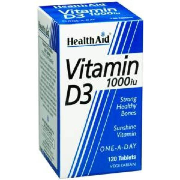 Health Aid Vitamin D3 1000iu 120caps