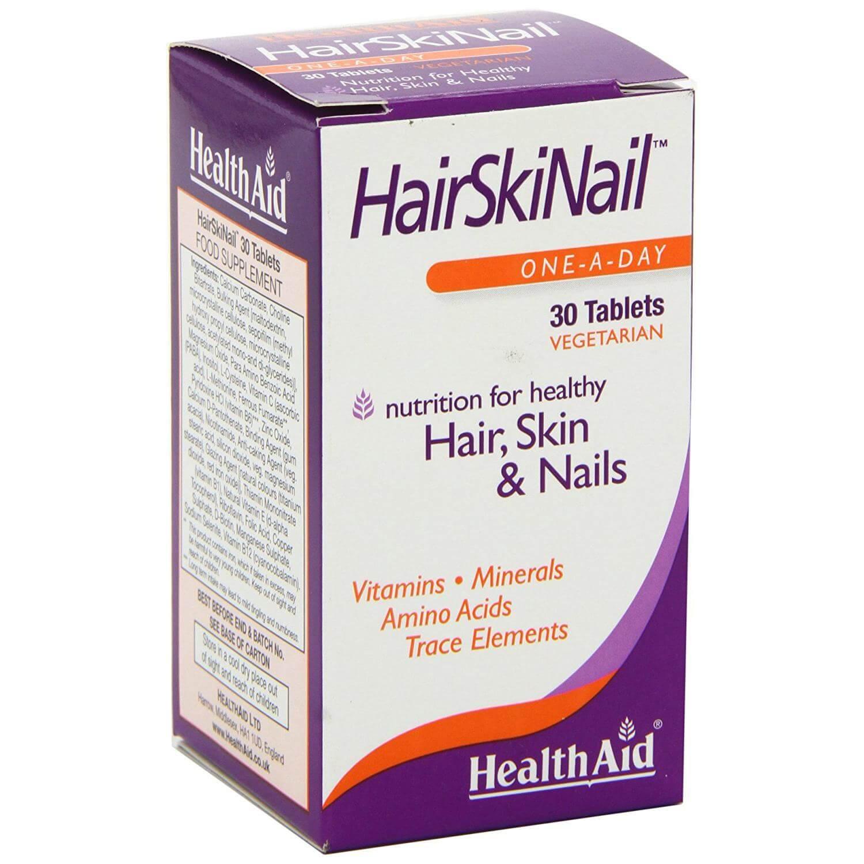 Health Aid Hair Skin Nails Συμπλήρωμα Διατροφής για Δυνατά Και Υγιή Νύχια Μαλλιά Και Δέρμα 30tabs
