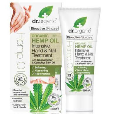 Dr. Organic Hemp Oil Hand & Nail Treatment Εντατική Κρέμα Ενυδάτωσης για τα Χέρια και τα Νύχια 24ωρης Δράσης 100ml