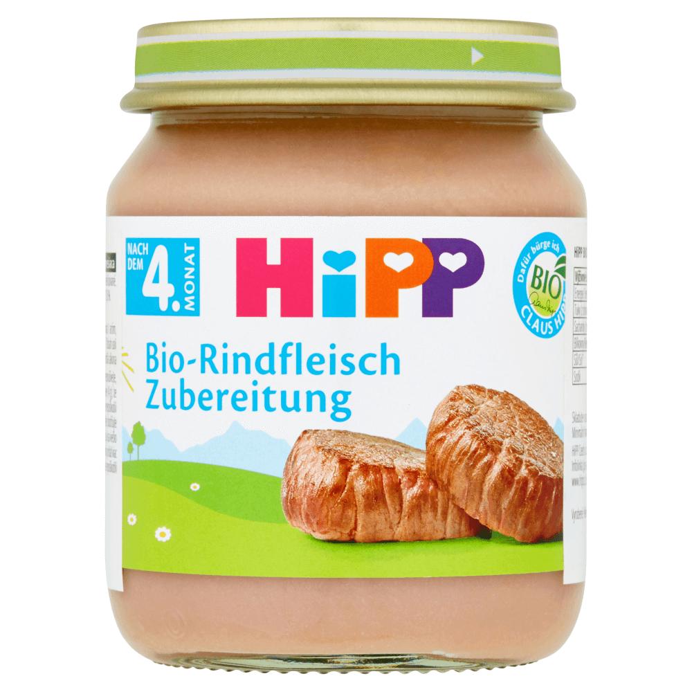 Hipp Βρεφικό Γεύμα με Βιολογικό Μοσχαράκι Μετά τον 4ο Μήνα125g