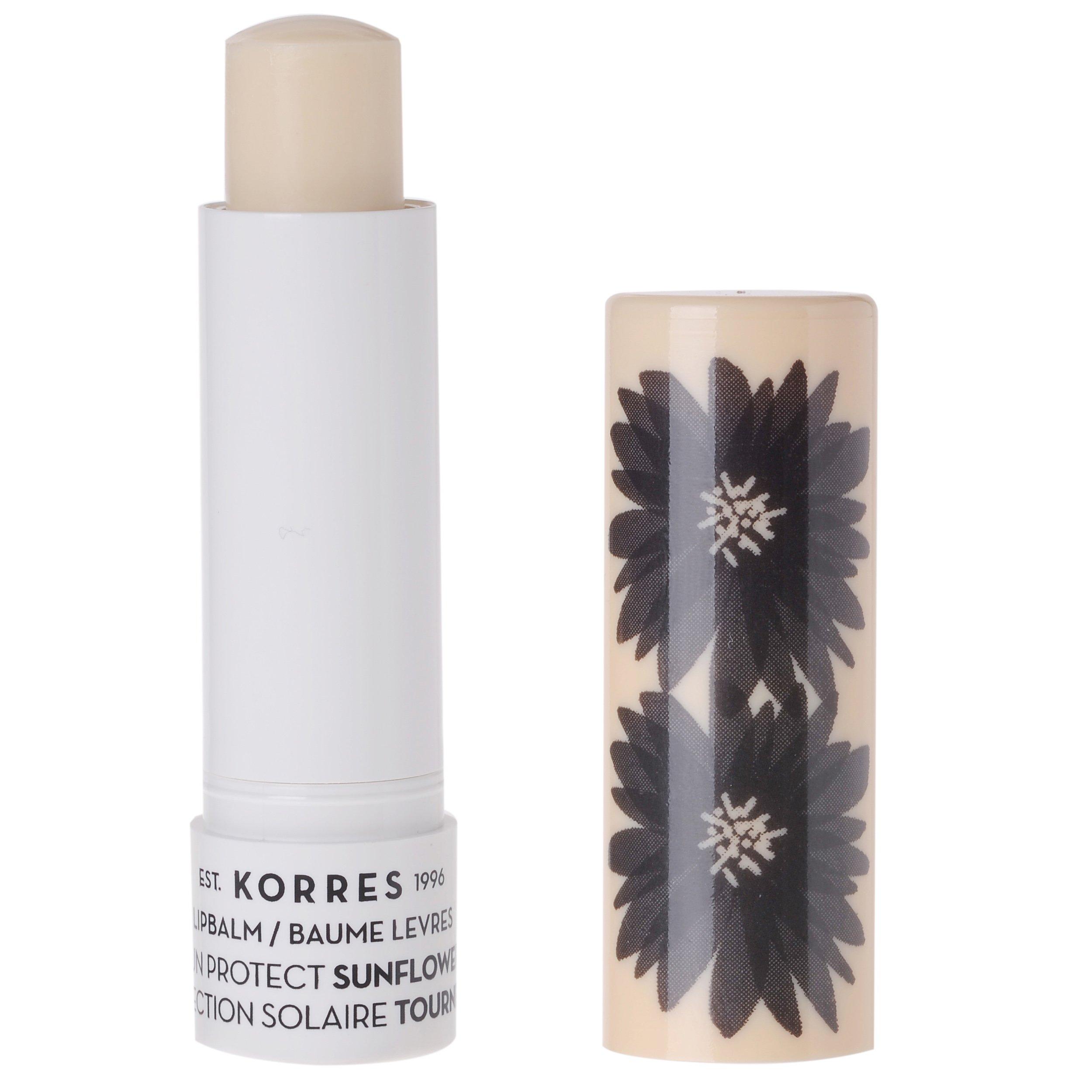 Korres Lip Balm Sun Protect Sunflower Spf20 Φροντίδα Αντηλιακής Προστασίας Εντατική Θρέψη & Επανόρθωση Χειλιώνμε Ηλίανθο 5ml