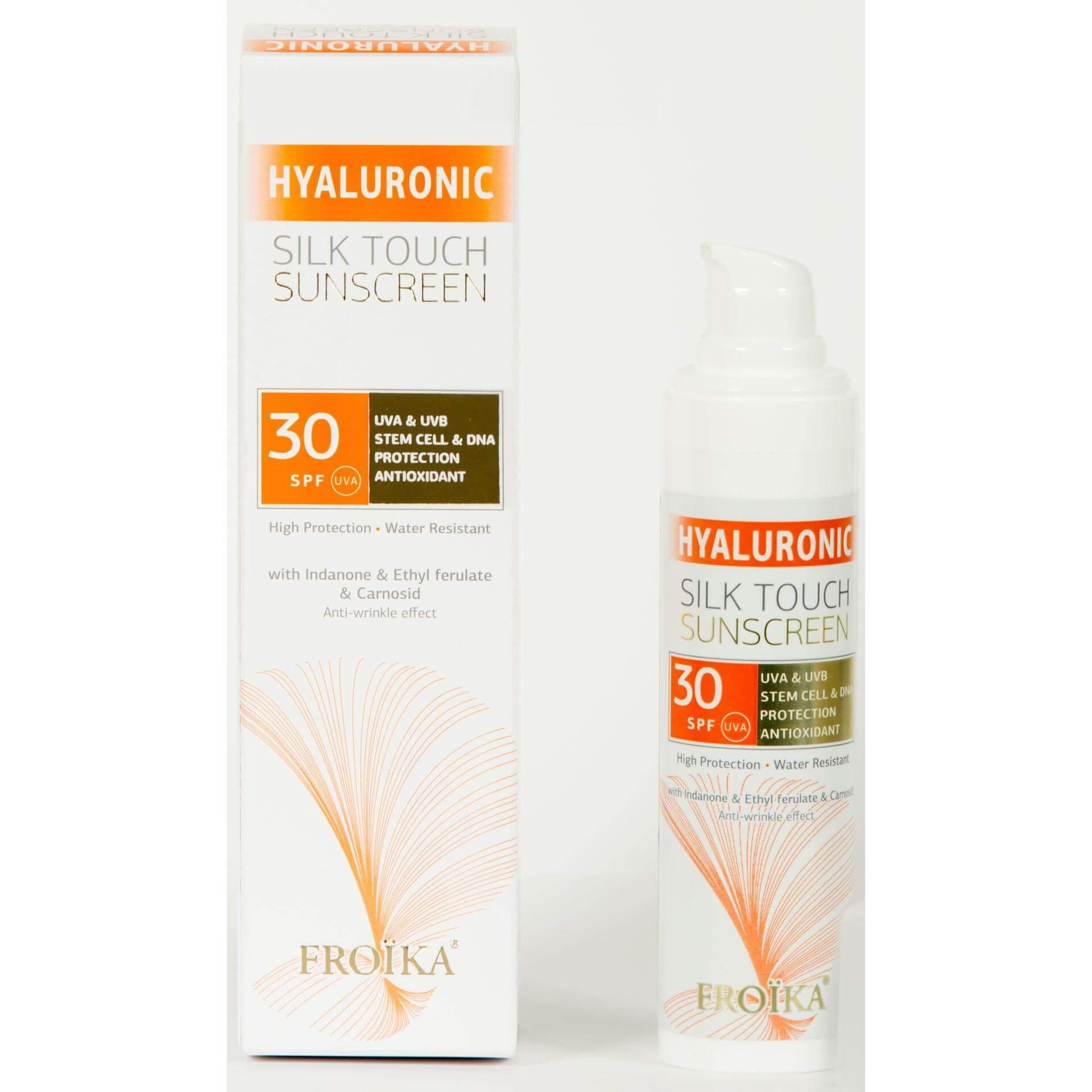 Froika Hyaluronic Silk Touch Suncare Cream SPF30 Με Αντιρυτιδικούς Παράγοντες 40ml