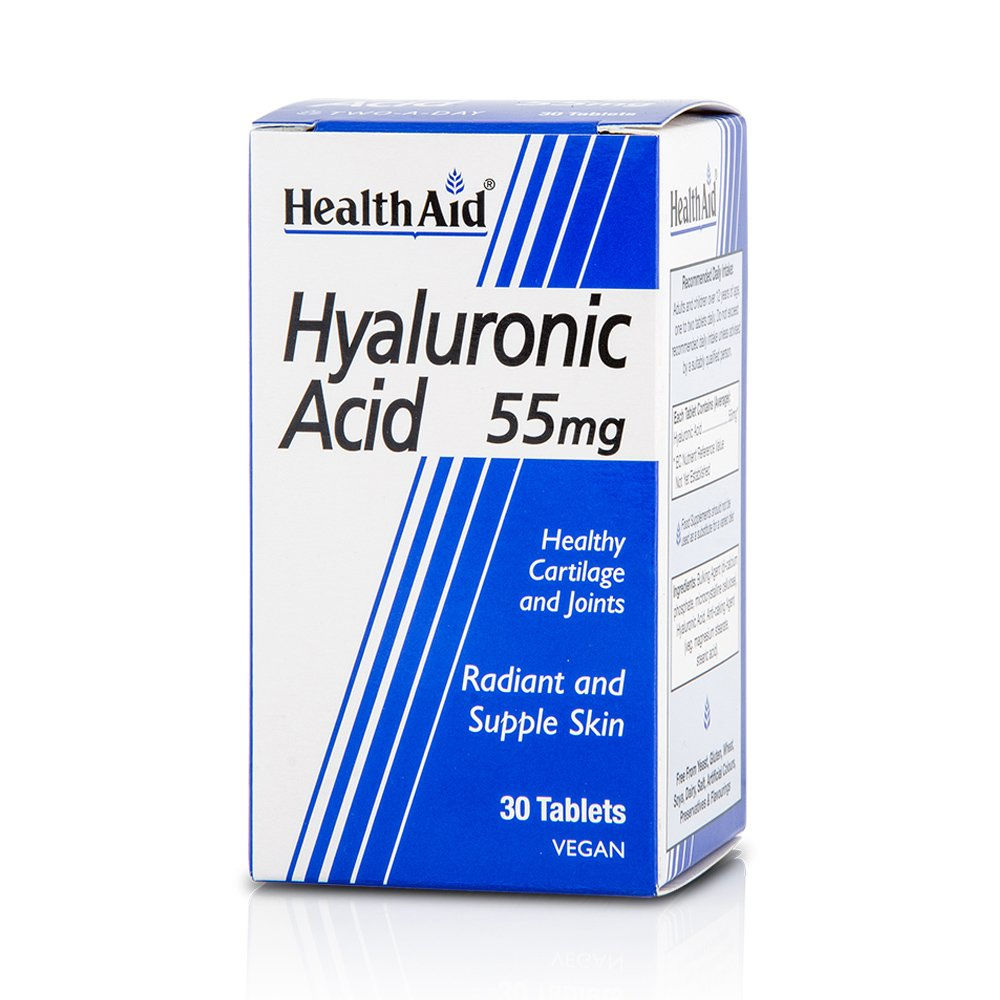 Health Aid Hyaluronic Acid 55mg Υγιή Οστά και Εύπλαστες Αρθρώσεις 30tabs