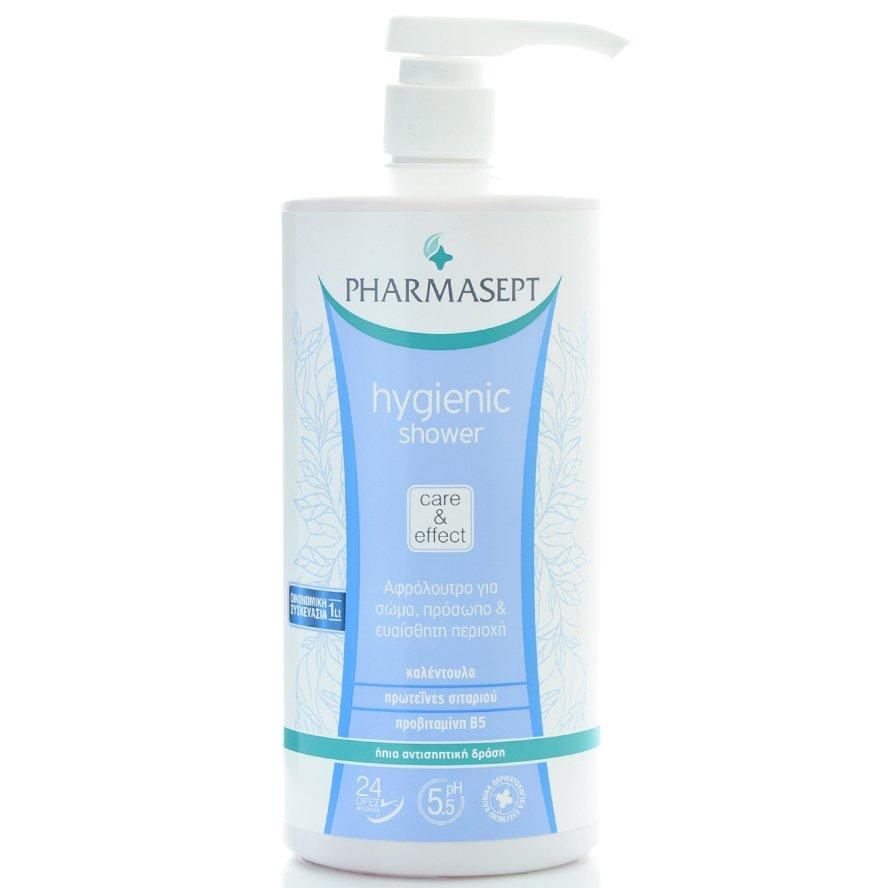 Hygienic Shower 1lt – Pharmasept,Αφρόλουτρο με Ήπια Αντισηπτική Δράση για Σώμα, Πρόσωπο & Ευαίσθητη Περιοχή