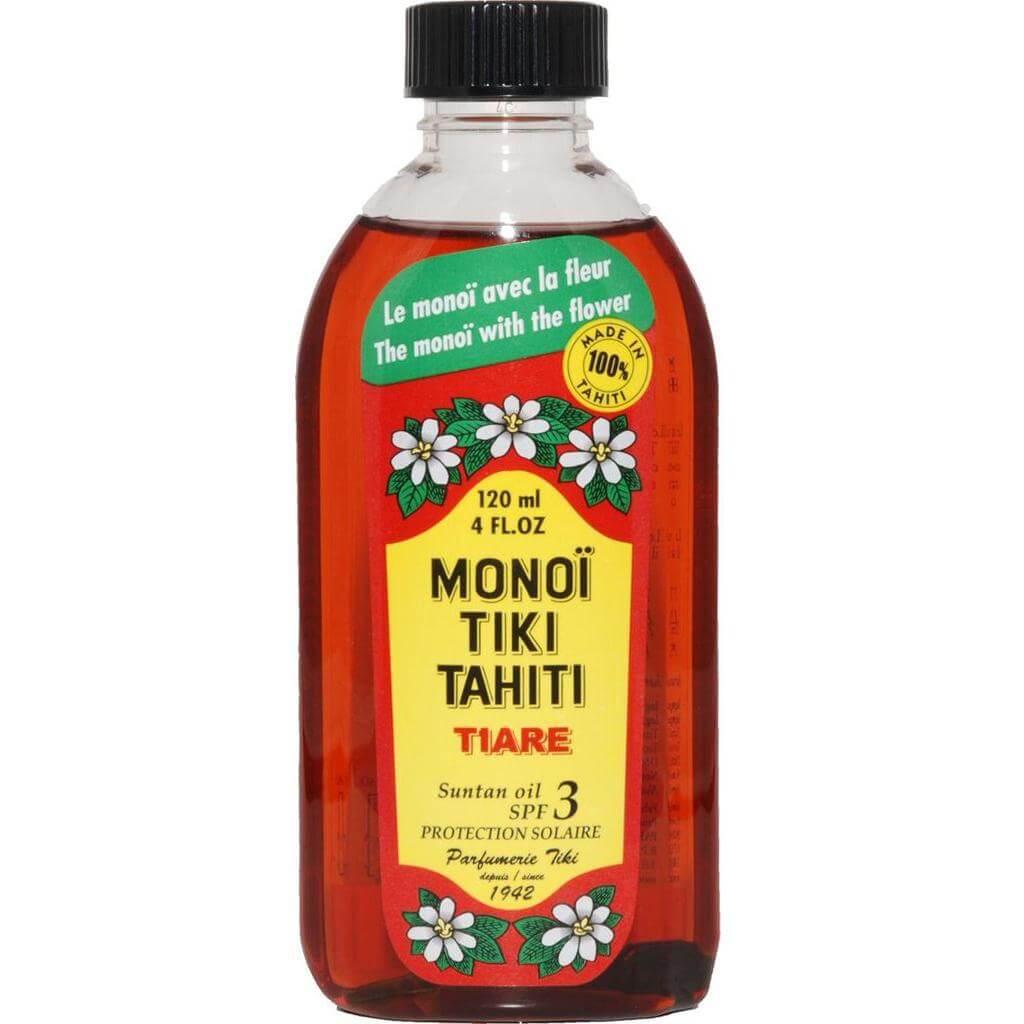 Monoi Tiki Tahiti Tiare Suntan Oil Spf3 Λάδι Μαυρίσματος με Άρωμα Γαρδένιας 120ml
