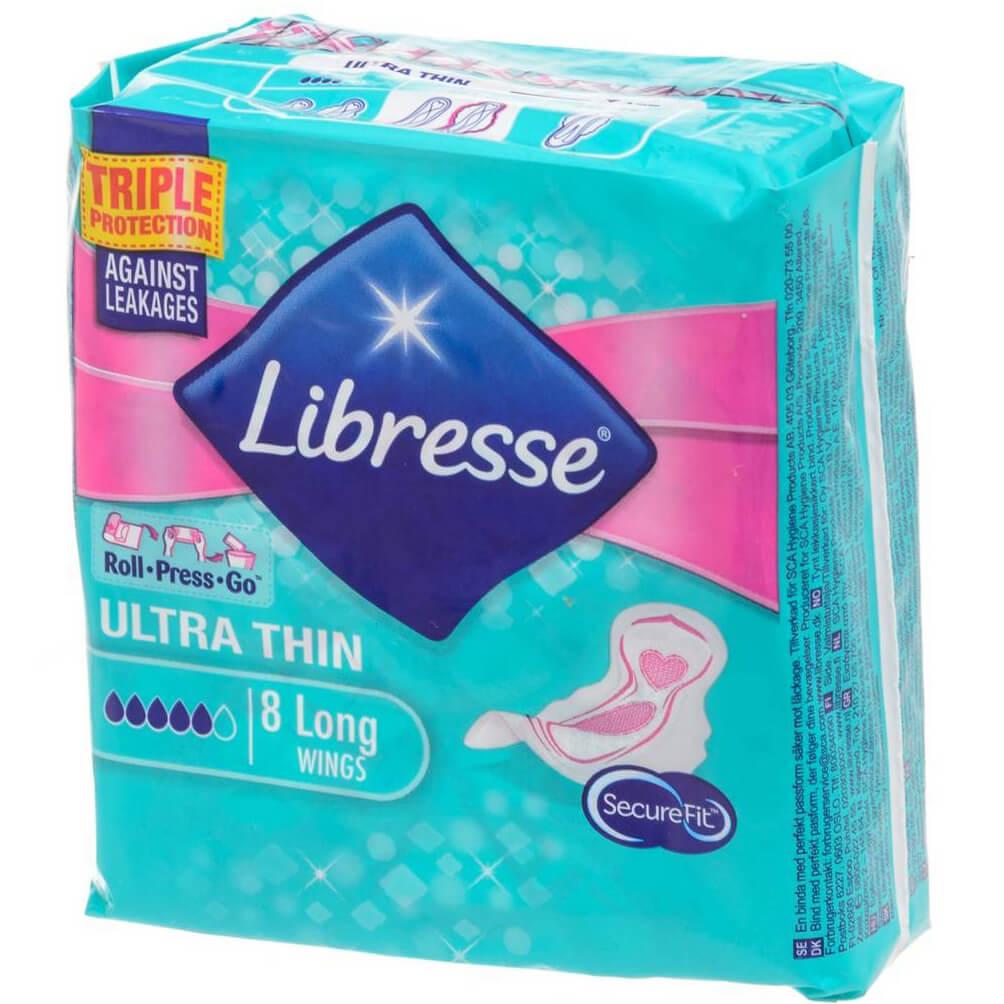 Libresse Ultra Thin Σερβιέτες με Φτερά 8 Τεμάχια