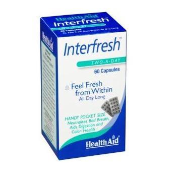 Health Aid Interfresh Breath Fresh Δρα Θετικά Στο Φρεσκάρισμα Της Αναπνοής 60caps
